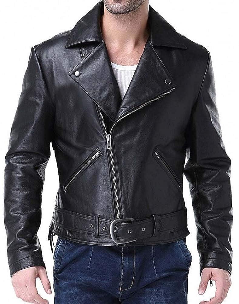 2a8ab58a6 Amazon.com: Parevaas Men's Ghost Rider Johnny Blaze Lamb Skin Bomber ...