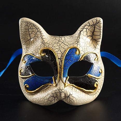 Mascara De La Mascarada,Venecia Parejas Halloween Fiesta Azul Niño ...
