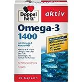 Doppelherz Omega-3 1400 mg/Nahrungsergänzungsmittel mit hochdosiertem Omega-3-Konzentrat plus Vitamin E/Hoher Gehalt an Omega-3-Fettsäuren/1 x 30 Kapseln
