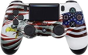 Blue Stripe Flag Ps4 Pro Custom UN-MODDED Controller Exclusive Unique Design CUH-ZCT2U