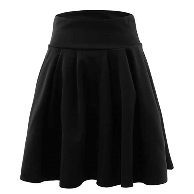 b49f311b7867 Image Unavailable. Image not available for. Color: B&A Sexy School Girls  Short Skirts Womens Harajuku A-Line Party Cocktail Mini Skirt Ladies