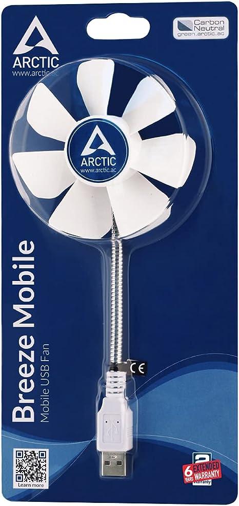 Verde ZengBuks Mini Ventilatore Portatile di Raffreddamento USB Ventilatore Portatile di Alimentazione Ventilatori Micro USB Accessori Estivi Flessibili per Gadget Estivi