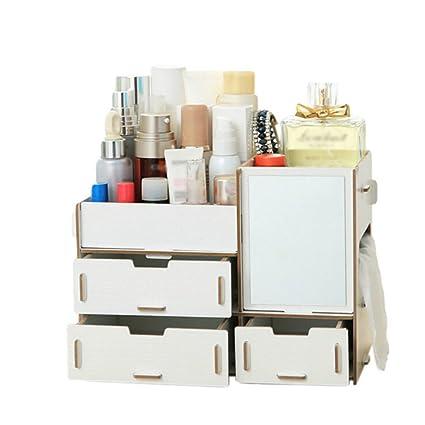 De madera cajas de almacenaje, cajas de cosméticos Creative DIY caja para maquillaje suministros joyería