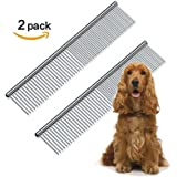 Andis Pet Grooming Tools Stainless Steel Pet Comb for Dogs and Cats(2 pcs)