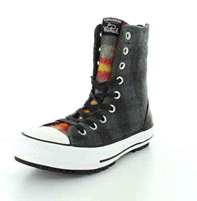 3180f7ee7ced Converse Womens Chuck Taylor Hi-Rise Thunder Black Casino Boot - 5