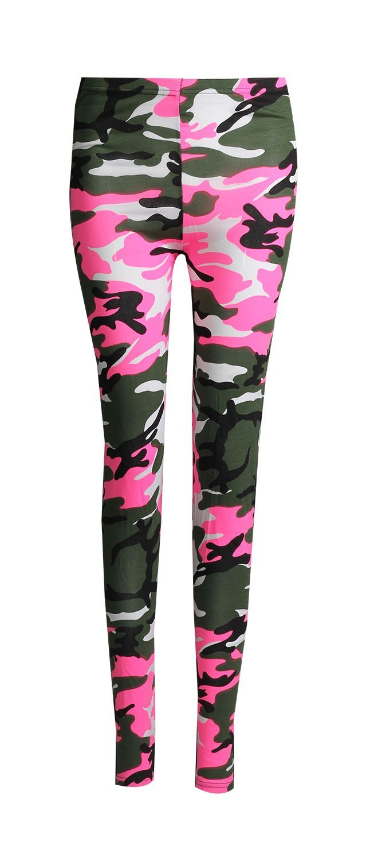 Forever Women's Full Length Camouflage Army Print Jersey Leggings