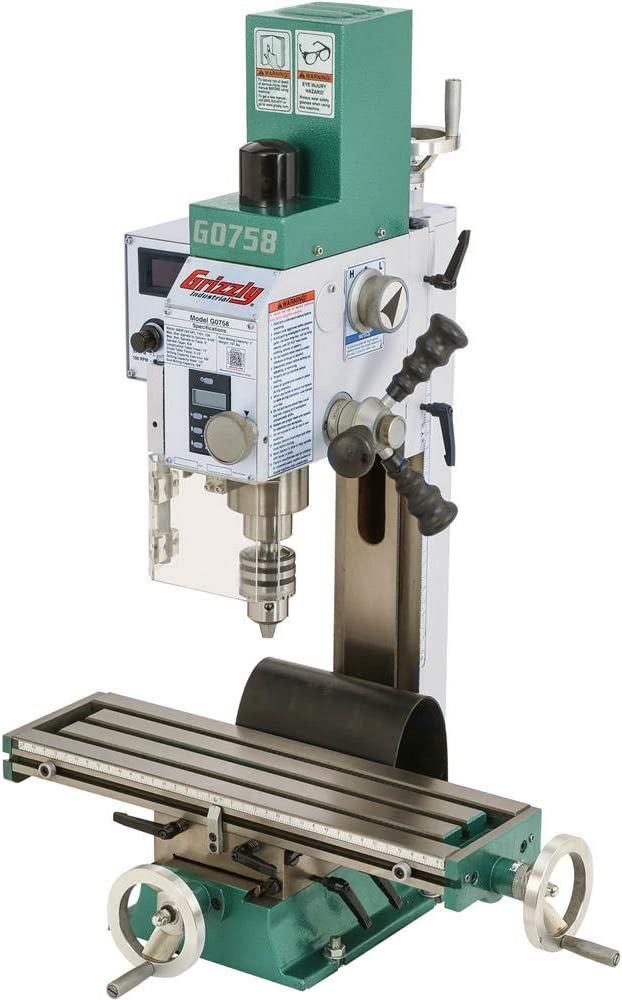 """Grizzly Industrial G0758-6"""" x 20"""" 3/4 HP Mill/Drill"""