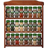 McCormick Gourmet Organic Wood Spice Rack, 24 Herbs & Spices, Holiday Spice Gift Set, 27.6 oz