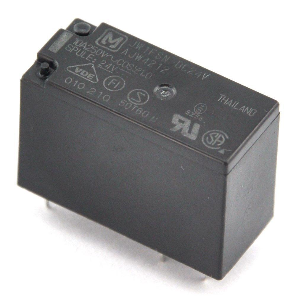 Electronics-Salon 100PCS JW1FSN-DC24V 10A Power Relay,SPDT/1 Form C, Ideal for Power Supply