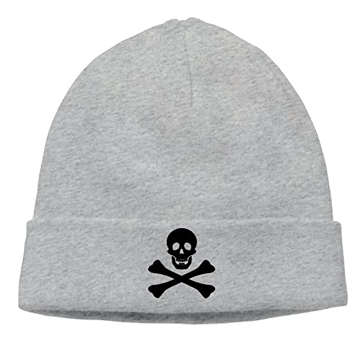 1c35ca906f054 Amazon.com  OHMYCOLOR Urban Skull Clip Art Mens Knit Beanies Hats For  Womens Cotton Winter Adult Trucker Baseball Caps Snapback  Clothing