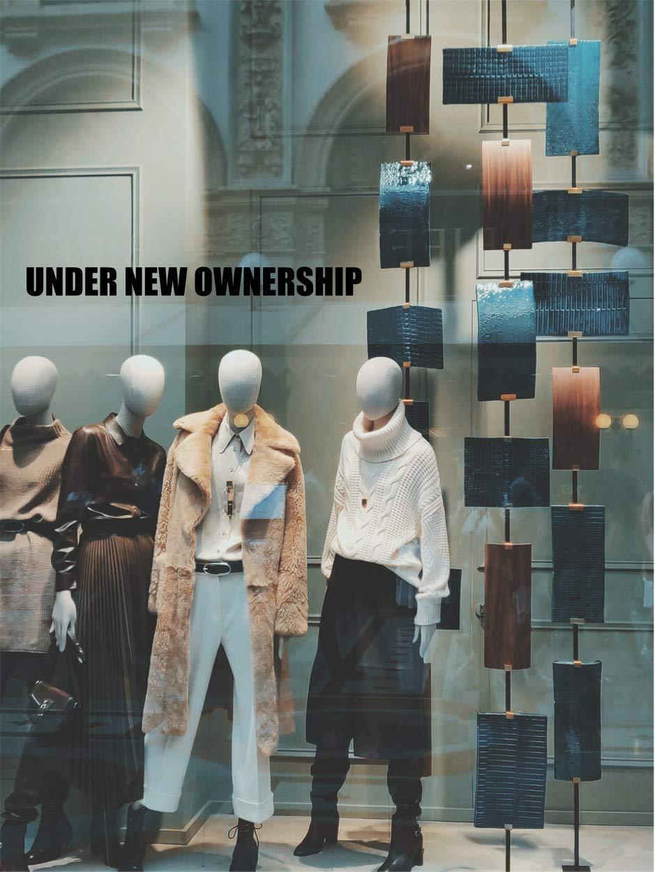 UNDER NEW OWNERSHIP Window Sticker Shop Retail Display Cafe Restaurant Pub Vinyl Decal