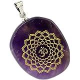 Pendentif de Collier Chakra Reiki Pierre d'Energie Guérison en Cristal Naturel Bijoux (7 Styles)