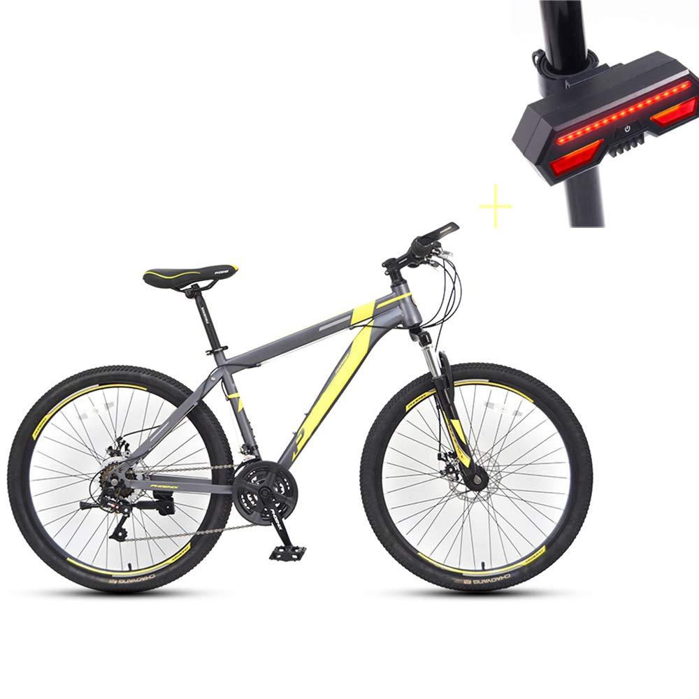 Huoduoduo バイク マウンテンバイク 26インチ 21スピードディスク ブレーキアルミニウム ハイエンドオフロード車 自転車ウィンカー B07GYY93WJ