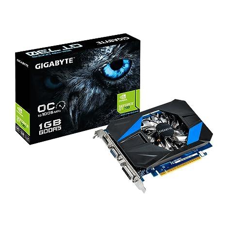 Gigabyte GeForce GT 730 Tarjeta gráfica Nvidia Kepler GK208-302, 1006 MHz, 1024 MB, PCI Express