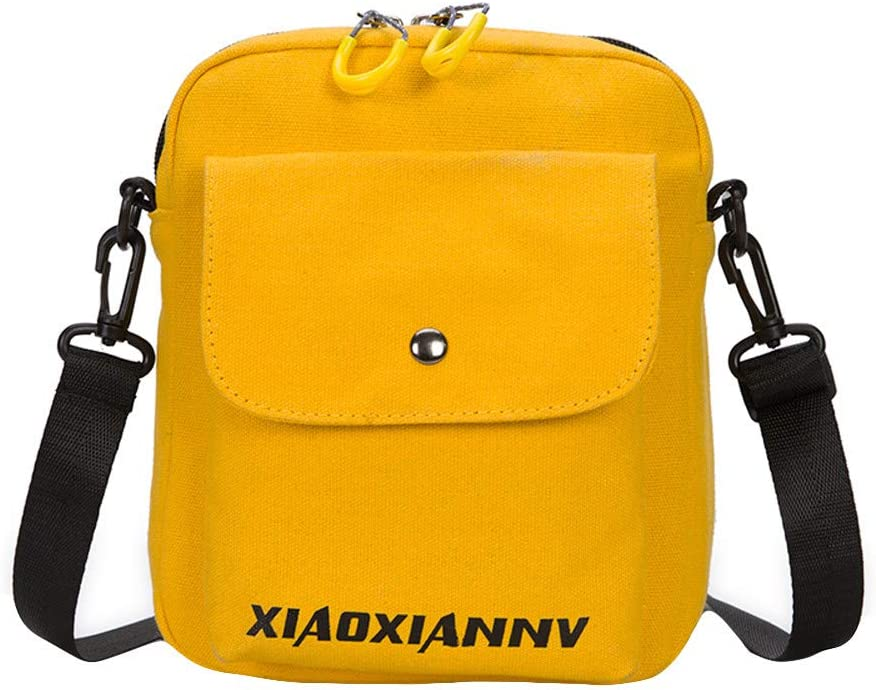 JJLIKER ❤ Women Shoulder Bag Fashion Zip Buckle Outdoor Casual Canvas Handbag