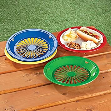 Amazon.com 10\  Reusable Plastic Paper Plate Holders - Set of 12 Kitchen \u0026 Dining  sc 1 st  Amazon.com : paper plates holder - pezcame.com