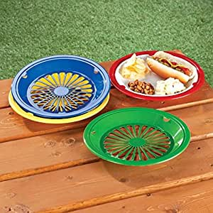These plastic paper plate holders are extremely durable and support flimsy paper plates! These plastic paper plate holders are great to manage all kinds of food items and essential at barbecues and parties so your paper plates won't bend or break when they're full of food plus, they are dishwasher safe, lightweight and durable.