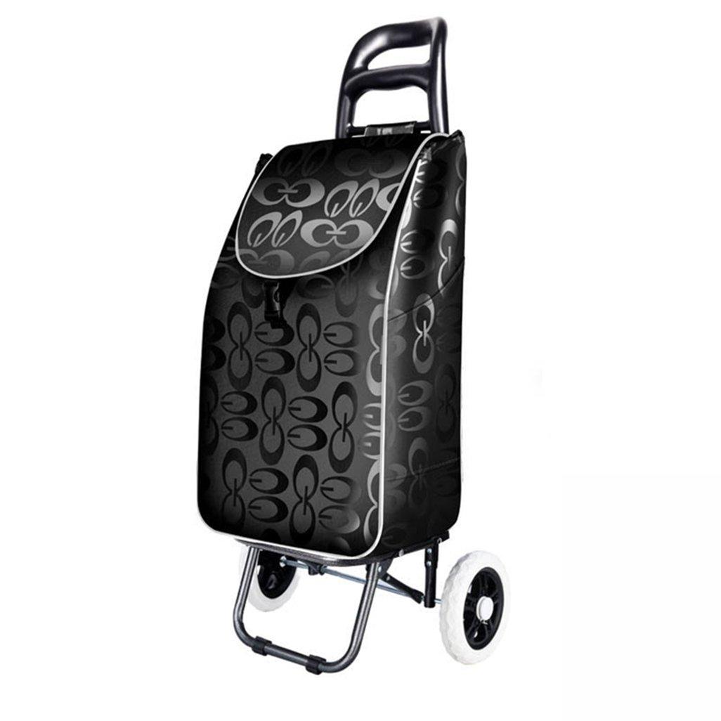 KTYX ショッピングカート、ショッピングカート、小型カート、ポータブルカート、折り畳み式トロリー、荷物用トロリー トロリー   B07H4L2Z8Y