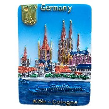 Colonia Alemania Mundo 3D resina fuerte imán de nevera ...