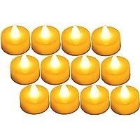 Diyife 12 LED Kaarsen, Vlamloze Flikkerende Theelichtjes, Elektrische Kaarsen, Decoratie voor Kerstmis, Kerstboom, Pasen…