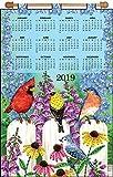 Design Works Crafts 4298 Sequin Calendar 2019BirdsFence, None
