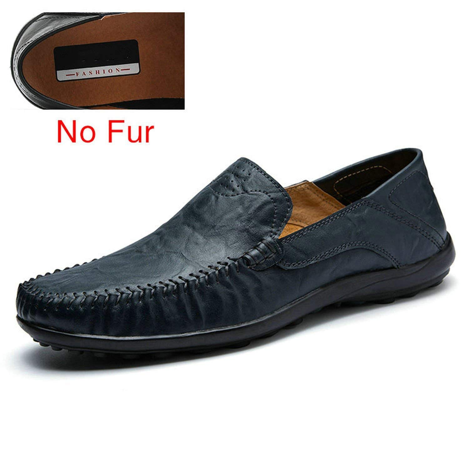 Romantico Men Loafers Leather Warm Men Casual Shoes Mens Flats Driving Shoes Soft Moccasins Boat Shoes