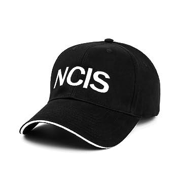 Nofonda Gorra Béisbol Negra Disfraz de NCIS Gorro de Algodón Ajustable  Bordado Fiesta de Special Agents efdda955f08
