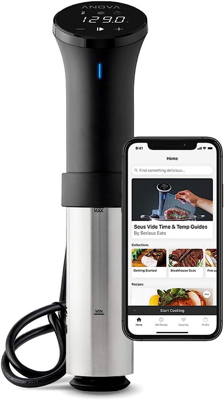 Anova Culinary | Sous Vide Precision Cooker (WiFi) | 1000 Vatios | Negro y Plata | App Anova incluida.: Amazon.es: Hogar