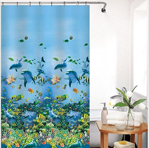 Shower Curtain-Decorative Shower Curtain Liner,PEVA Shower Curtains,Mildew Waterproof Repellant Shower Curtain