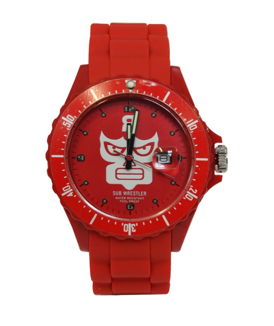 REVGRP Watch with REVMAN Luchador Logo Available in Red and White