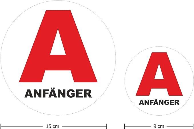 Anfänger Fahrzeug Magnet Rotes A Symbol I 15 Cm Rund I Fahranfänger Kennzeichnung A Plakette International I Kfz 620 Auto