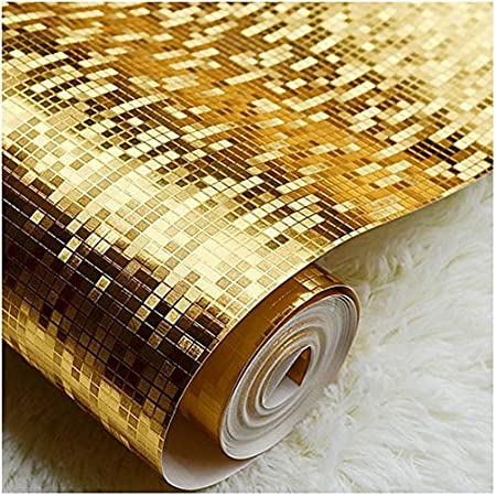 FUMIMID Gold Silver Small Reflective Wallpaper KTV Bar Ceiling Bathroom Mosaic Foil