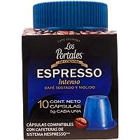 Los Portales de Cordoba Capsulas Café Gourmet ESPRESSO Intenso, 10 cápsulas