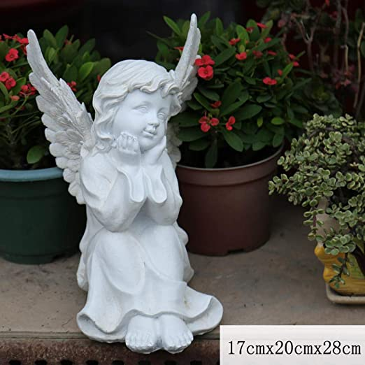Sungdy Decoración Estatua jardín Fantasy Garden Animal Tree Decoration Decoration Tree Garden Sculpture Angel Decoration Resin Decoration Gardening Character-Ángel g: Amazon.es: Jardín