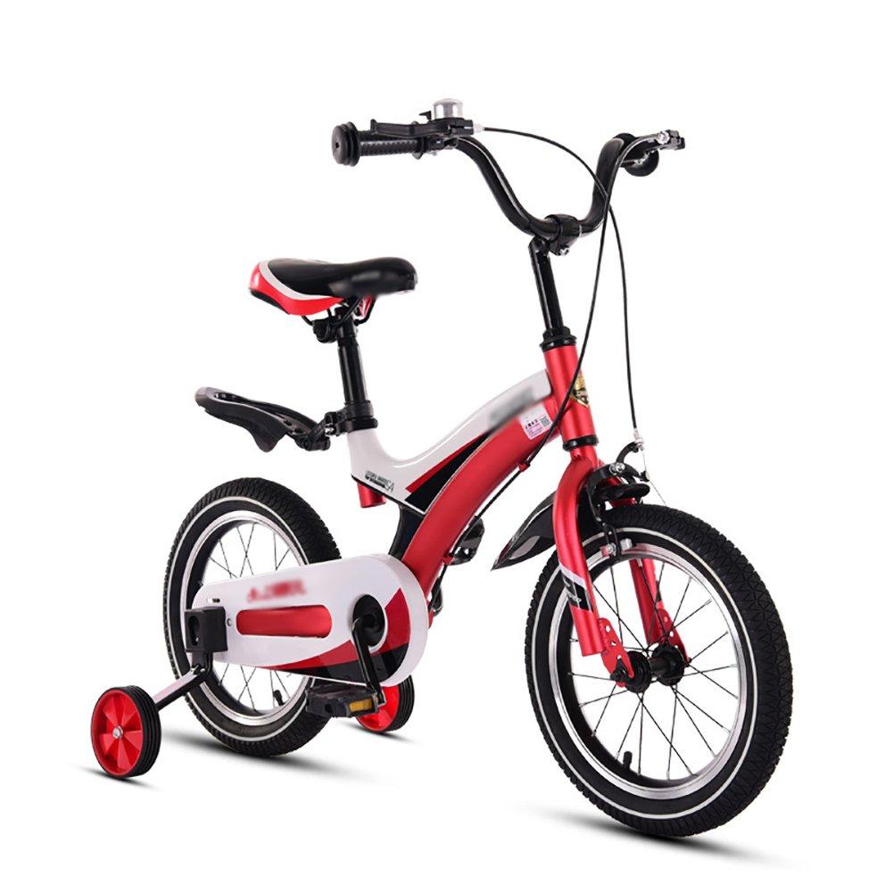 子供の自転車赤ちゃんの自転車3歳から10歳の赤ちゃんの少女の自転車12 14 16 18インチのブルーイエローレッドピンク B07DVWZXCJ 14 inch|赤 赤 14 inch