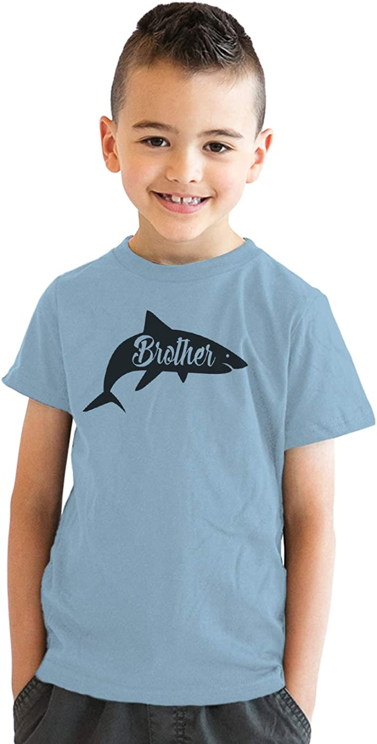 Youth Brother Shark Tshirt Funny Beach Summer Vacation Family Tee for Kids