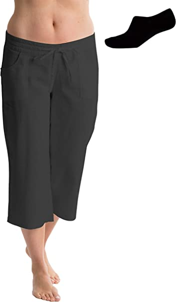 shop buying now limited guantity Octave® Ladies Linen Cropped 3/4 (Three Quarter) Length Trousers ...