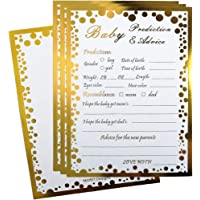 50 Gold Baby Advice and Prediction Cards Baby Shower Advice Cards for Baby Shower Game Party Gender Neutral Shower Party Favors for New Mom & Dad Card to Be New Parents