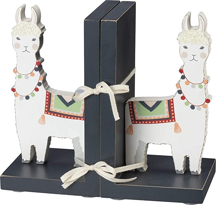 Primitives by Kathy Book Ends - Llama