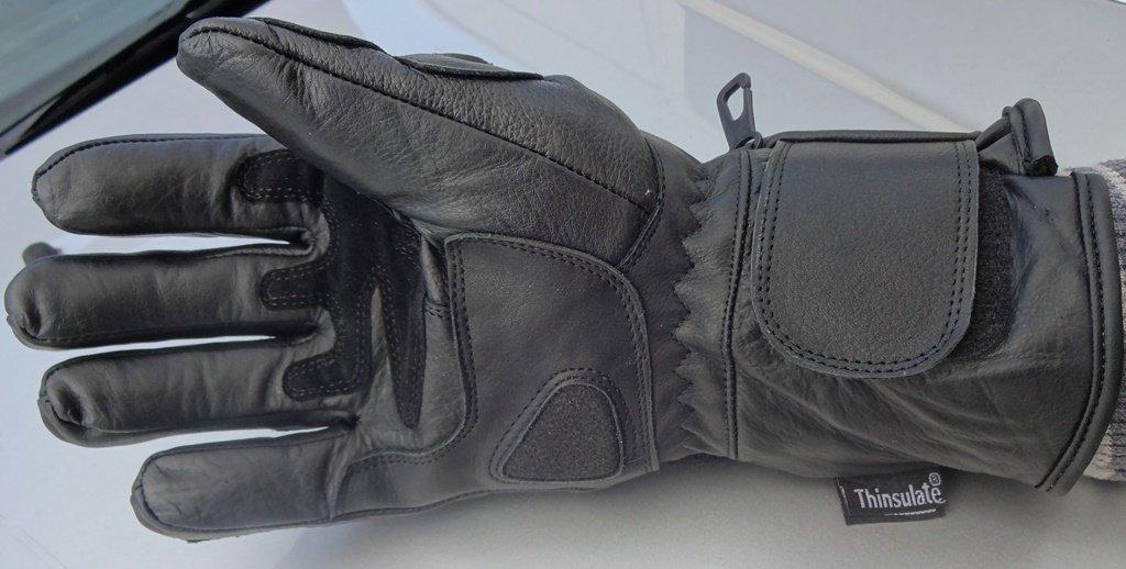 XGrand Noir Hiver Imperm/éable Cuir Gants Moto Articulation Gardien