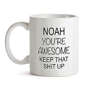 Amazon Com Noah You Are Awesome Gift Mug Bb78 Funny Name