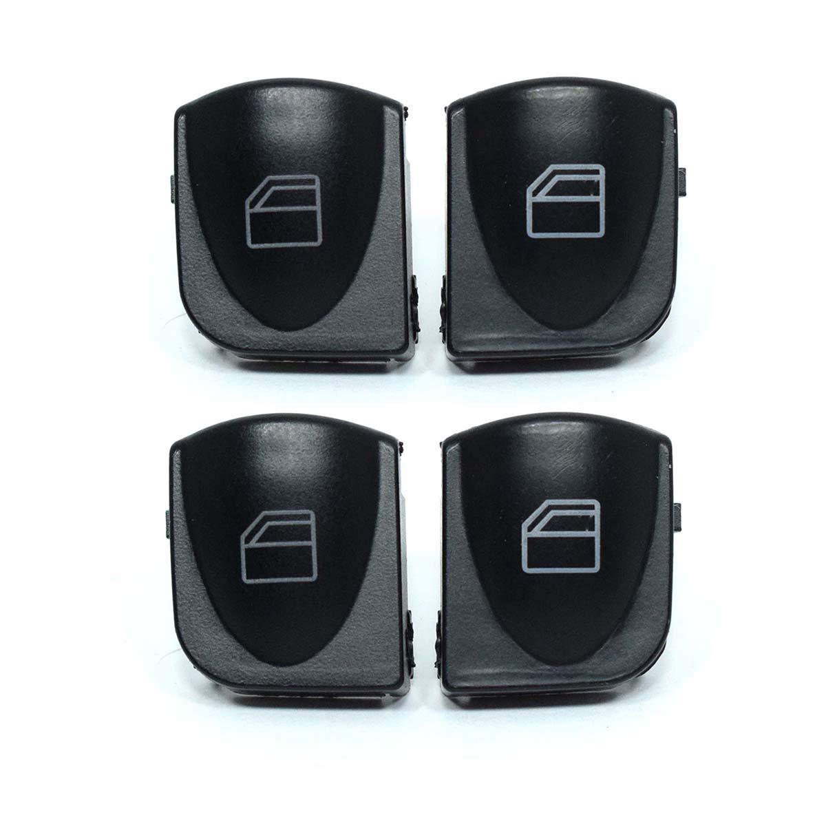 4X Vorne Links Rechts Fensterheber Schalter Knopf Taste Tasten Taster Fensterheberschalter