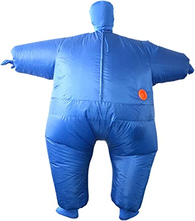 Inflatable Sumo Wrestler Fancy Dress Halloween Costume for Adult Blowup Fat Suit