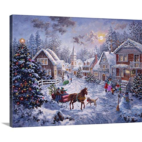 Nicky Boehme Premium Thick-Wrap Canvas Wall Art Print entitled Merry Christmas 40