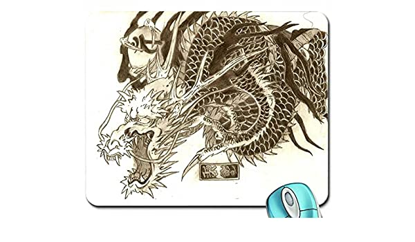 Arte dragón tatuaje Yakuza Mouse Pad Computer Mousepad: Amazon.es ...
