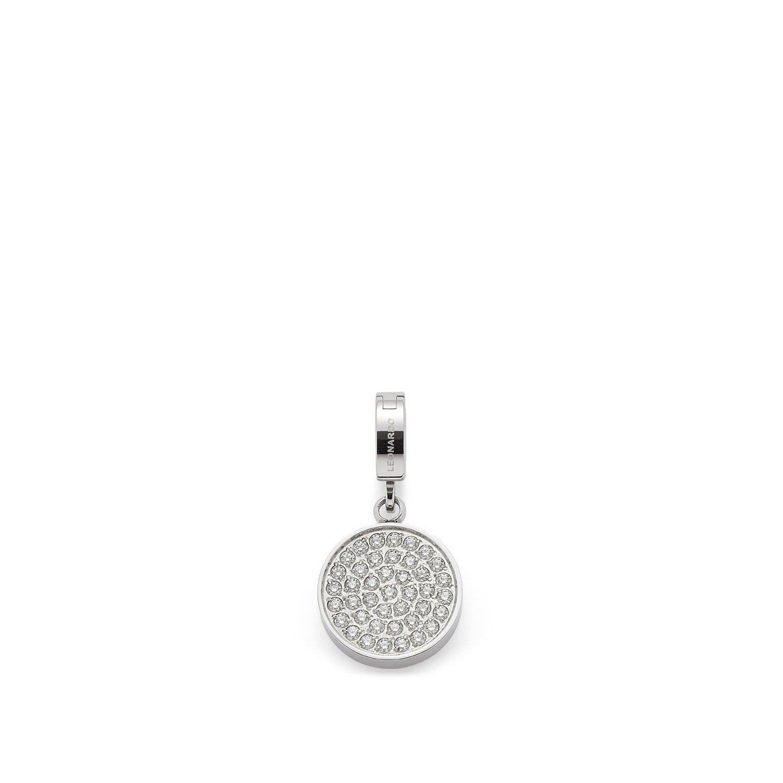 JEWELS BY LEONARDO women pendant Chiara Darlin's stainless steel/silver colored zirconia transparent Darlin's Clip small round circle glitter 016418