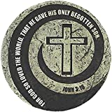 God So Loved the World Cross Vortex 10 x 10 Inch Cement Outdoor Garden Stepping Stone