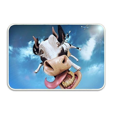 Amazoncom Riango Flying Cow Bath Mat Durable Door Mat Garden