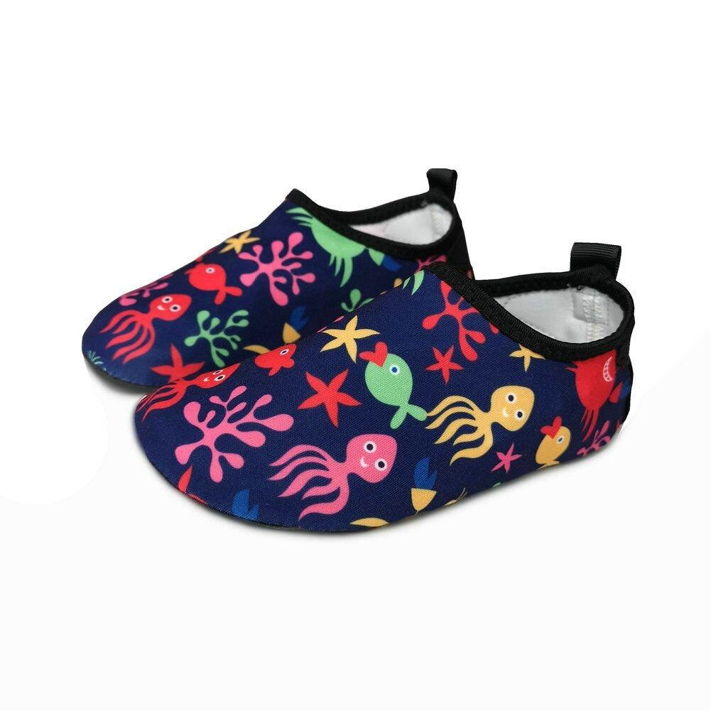 BFOEL Kids Swim Water Shoes Quick Dry Slip on Aqua Socks Toddler//Little Kid