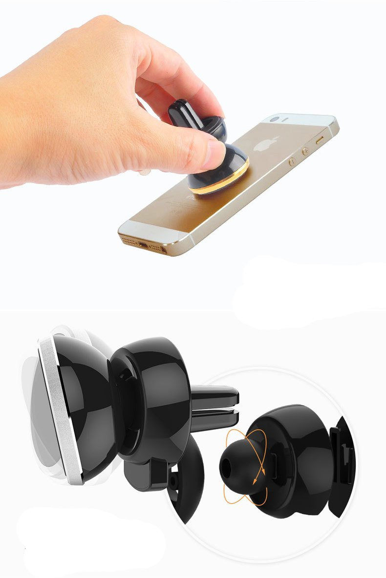 Car Mount Cellphone Holder Samsung Galaxy S8 S9 S7 S6 Edge S5 Note 5 4 LG Sony HTC DRUnKQUEEn 4351532910 Universal Vehicle Air Vent 360 Degree Adjustable Magnetic for Apple iPhone X 8 7 6S Plus SE